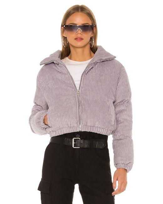 superdown Corduroy Kora Puffer Jacket in Grey (Gray) - Lyst