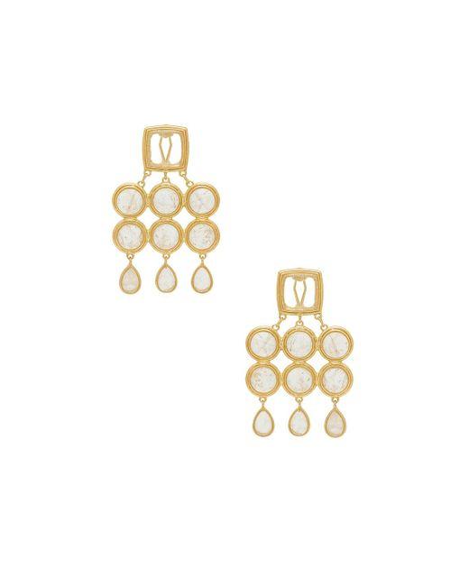 Luv Aj - Metallic The Quartz Chandelier Earrings - Lyst