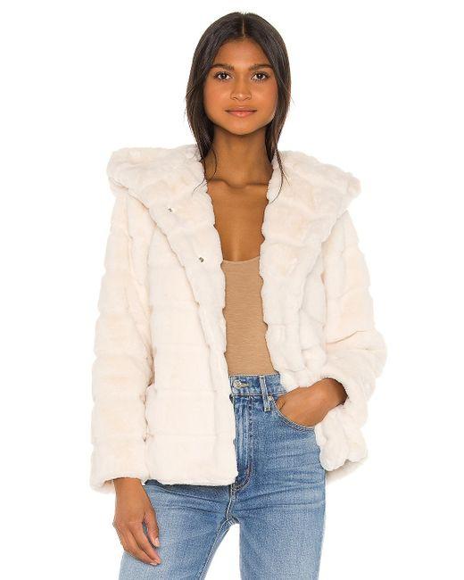 Куртка Из Искусственного Меха Goldie В Цвете Светло-бежевый Apparis, цвет: White