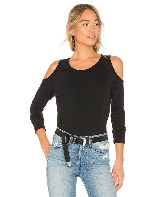 Bobi | Black Jersey Open Shoulder Tee | Lyst