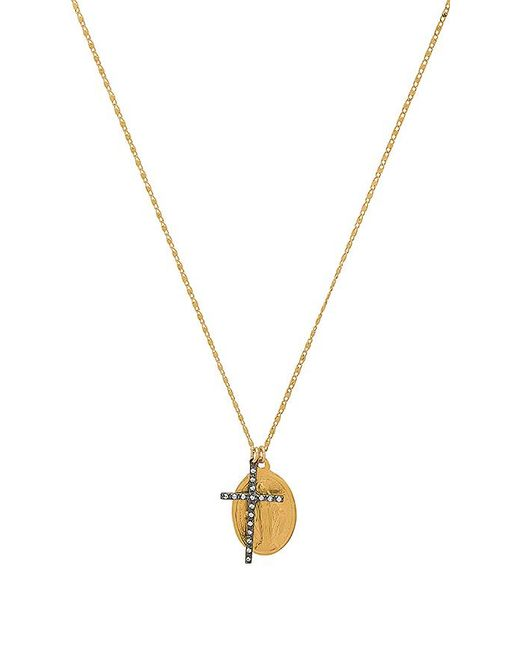 Natalie B. Jewelry - Virgin Mary Necklace In Metallic Gold. - Lyst