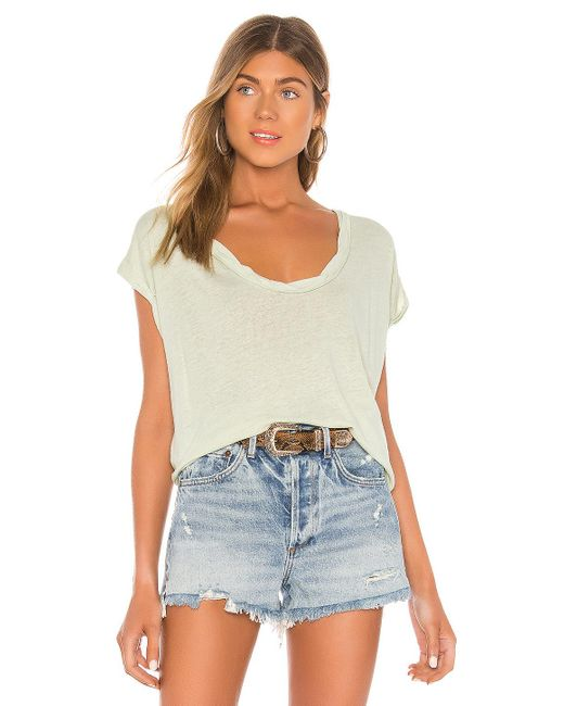 Free People Camiseta under the sun de mujer de color verde