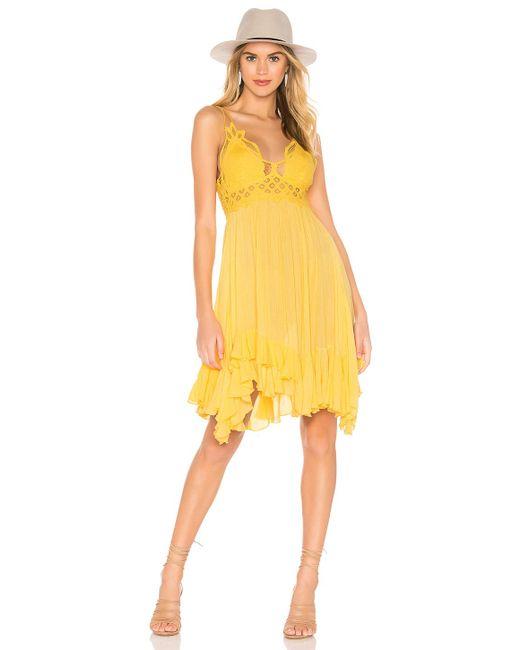 Free People Adella ドレス Yellow