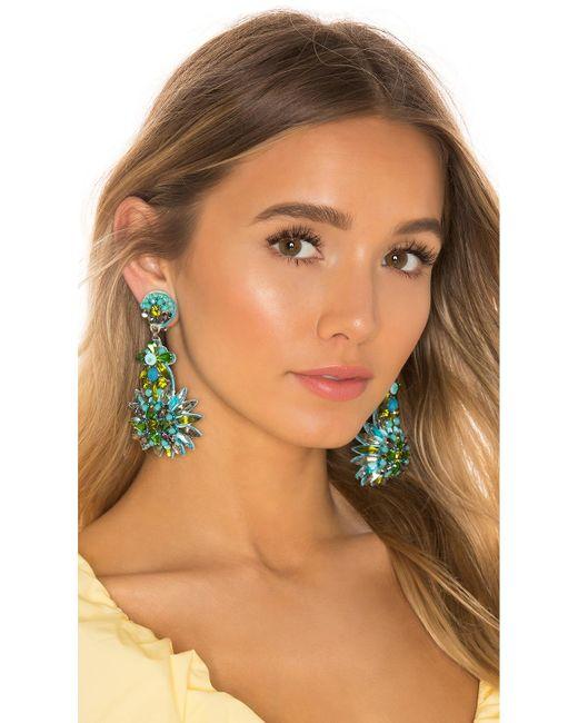 Ranjana Khan Green Gem Cluster Earring