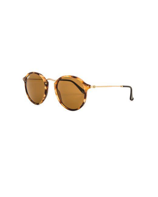 Солнцезащитные Очки Round Fleck В Цвете Черепаховый И Коричневый Классический B-15 Ray-Ban, цвет: Brown