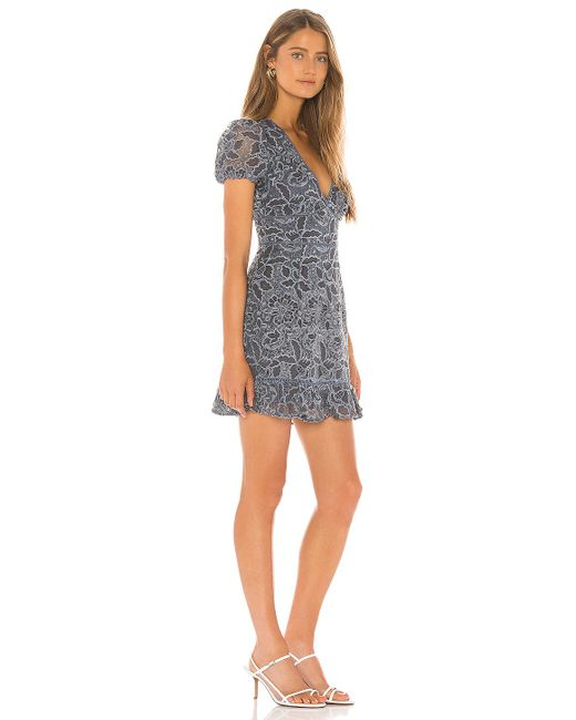 Lovers + Friends Blue Amabel Mini Dress