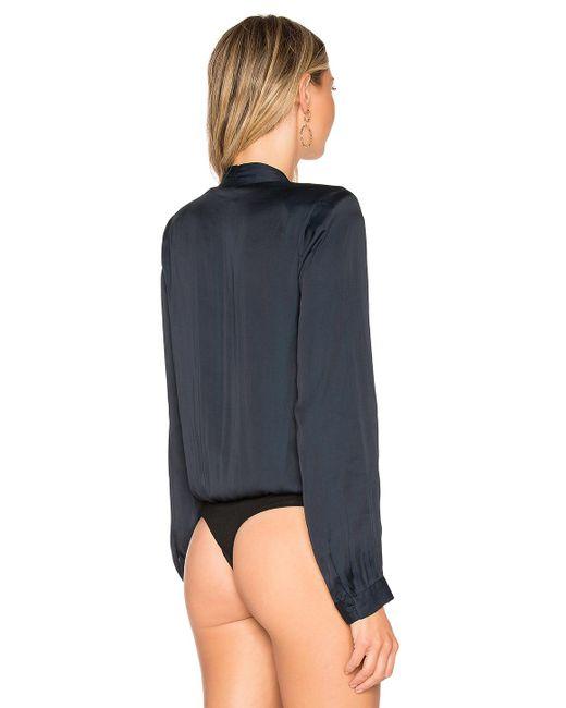 PAIGE Blue Sevilla Bodysuit