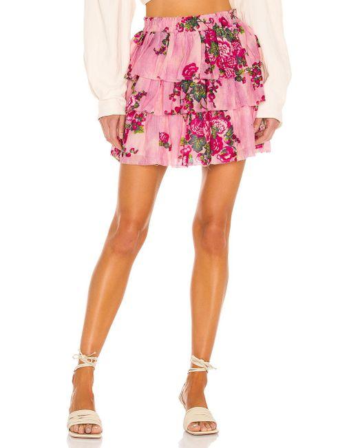LoveShackFancy Brynlee スカート Pink