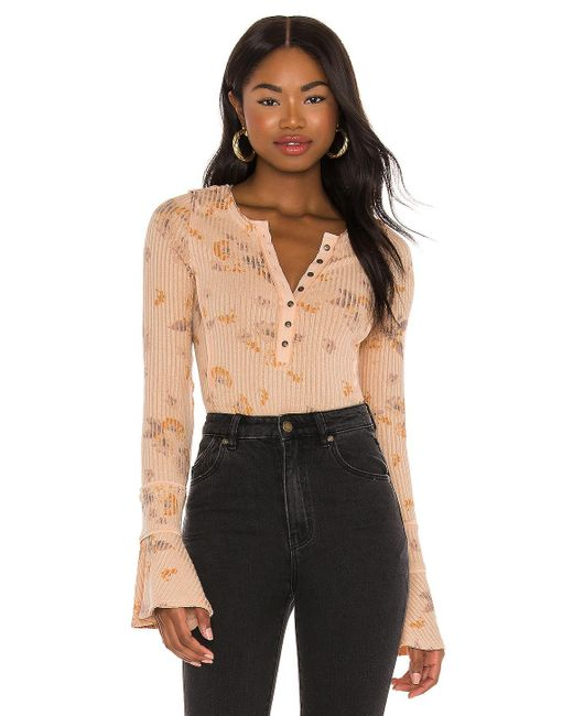 Free People Multicolor Layer Me Henley