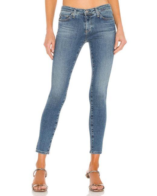 AG Jeans LEGGING Ankle スキニーデニム Blue