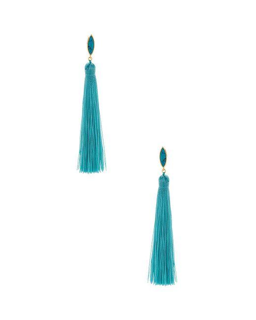 Gorjana - Blue Palisades Tassel Earrings In Metallic Gold. - Lyst