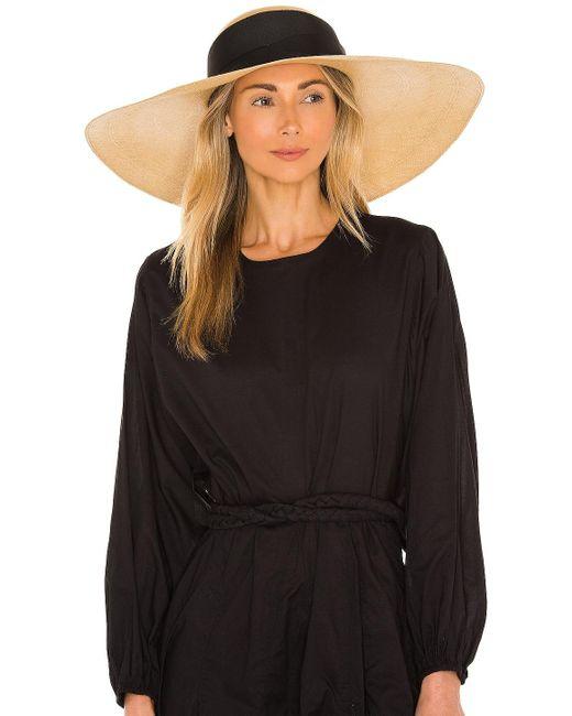 Шляпа Lady Ibiza В Цвете Beige & Black Band Sensi Studio