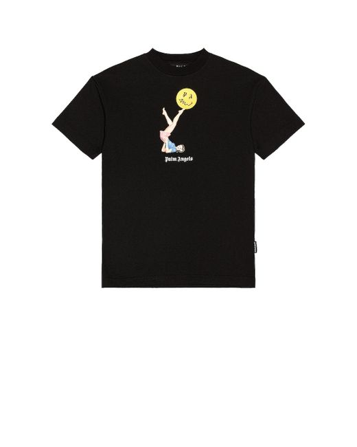 メンズ Palm Angels Pin Up Tシャツ Black