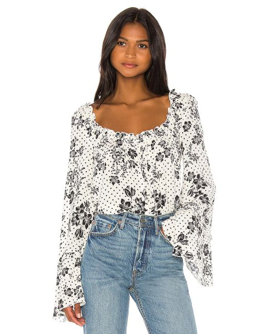 Free People One On One Date ボディスーツ White