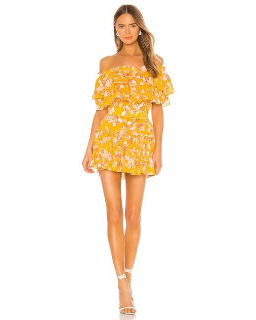 MISA Los Angles Luella ミニドレス Yellow