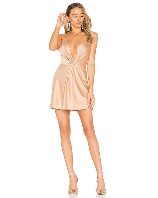 House of Harlow 1960 - Natural X Revolve Sharon Dress In Camel In Brown - Lyst