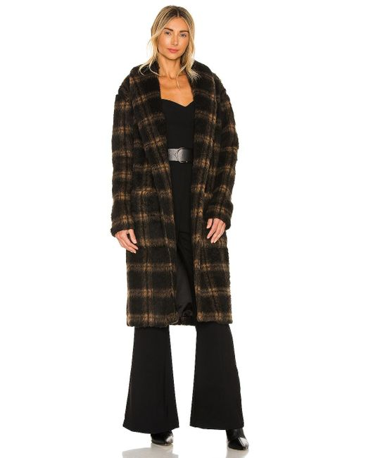 Пальто В Цвете Коричневый & Черный Amanda Uprichard, цвет: Black