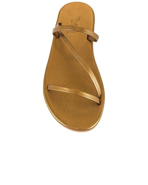Ancient Greek Sandals Parthena スライド Metallic