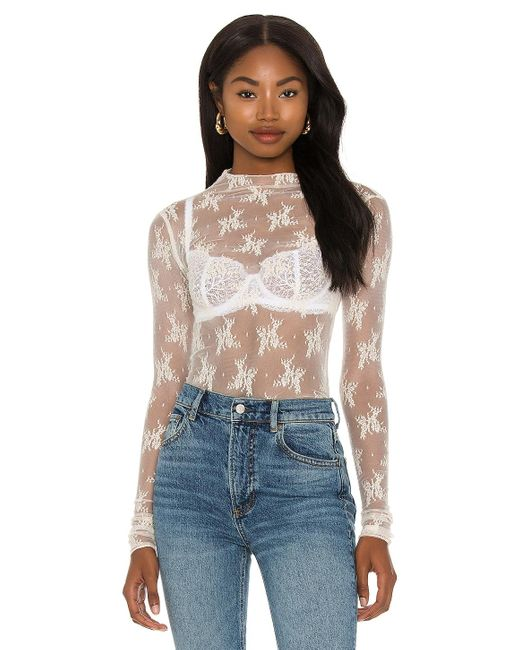 Free People White Lady Lux Layering Top