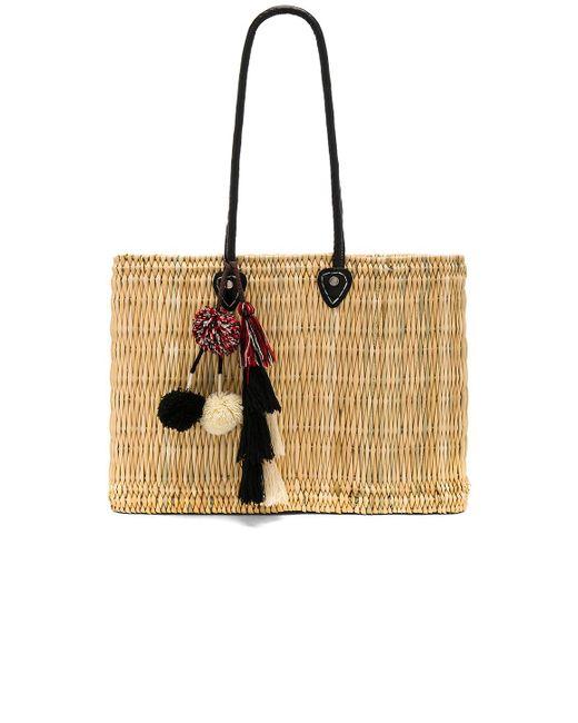 MISA - Black Jane Large Box Bag In Beige. - Lyst