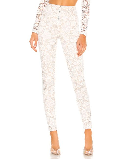 superdown Justene Sheer Lace Pant White
