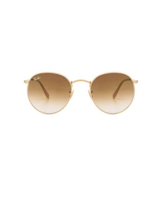 Ray-Ban Multicolor Gradient Round Brow-bar Sunglasses