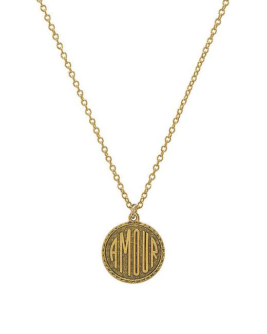 Natalie B. Jewelry - Metallic Amour Charm Necklace In Gold. - Lyst
