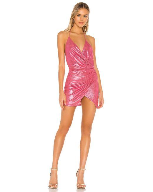 superdown Missie ラップフロントドレス Pink