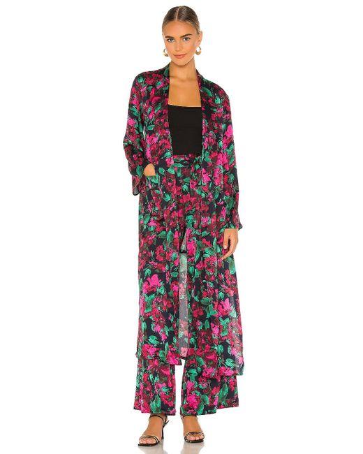 MISA Los Angles Malini ローブ In Pink,black. Size S, M.