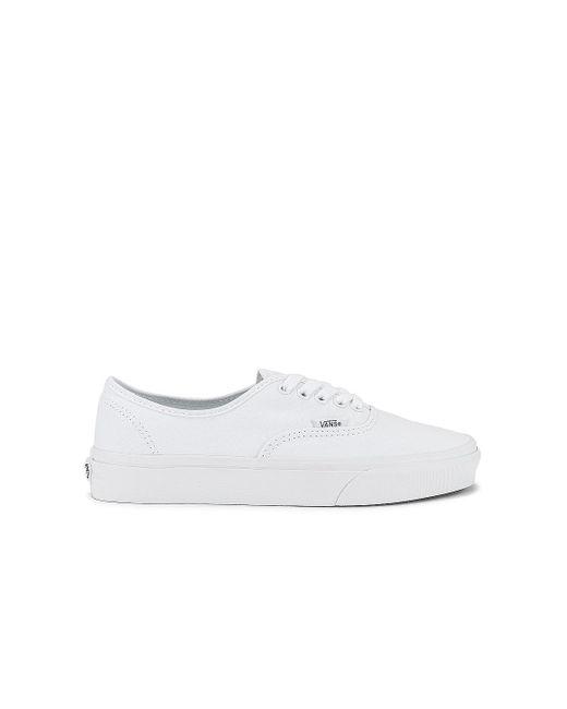 Кроссовки Authentic В Цвете Настоящий Белый Vans, цвет: White