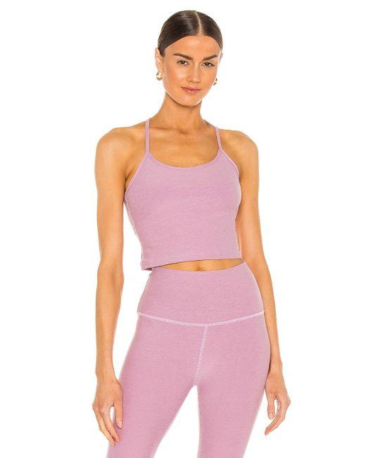 Beyond Yoga Spacedye Slim Racerback タンクトップ Pink