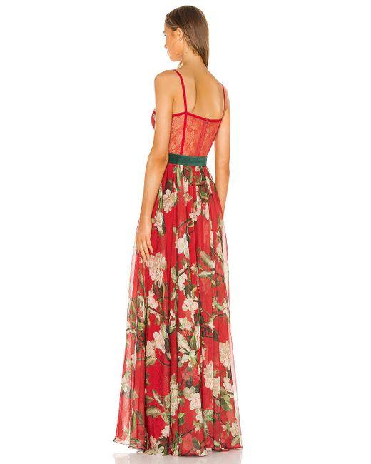 PATBO Floral マキシドレス Red