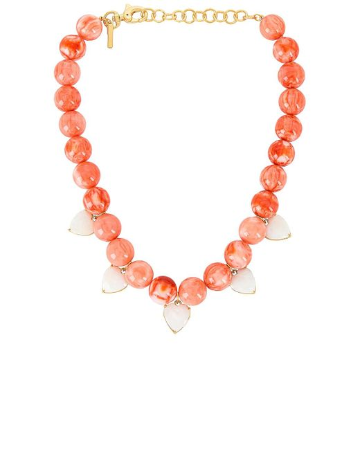 Lele Sadoughi Heart Charm Country Club ネックレス Pink