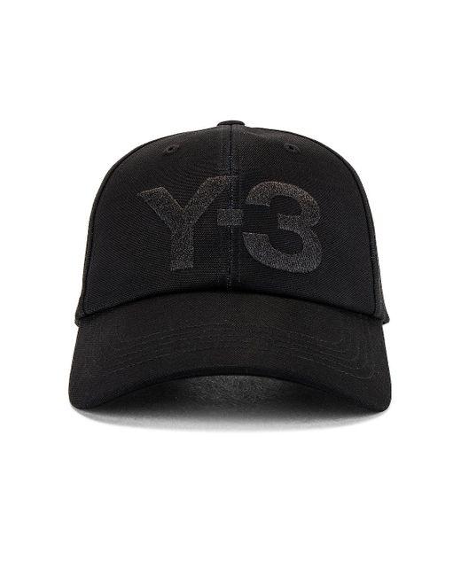 メンズ Y-3 キャップ Black