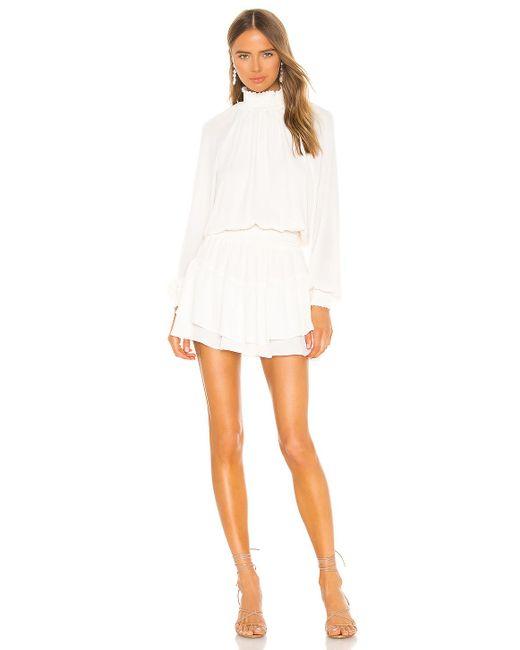 Krisa Smocked ミニドレス White