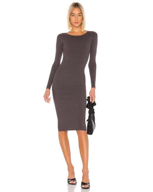 LPA Gray Auburn Sweater Dress
