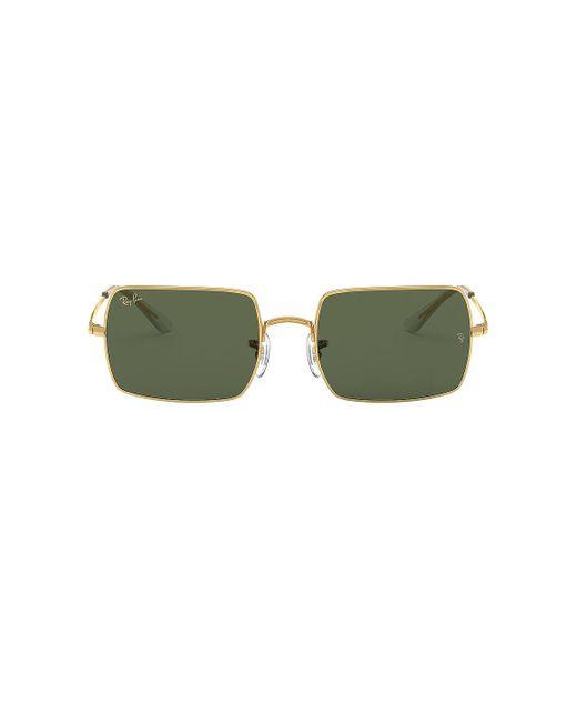 Солнцезащитные Очки Rectangle В Цвете Legend Gold & Green - Dark Green. Размер All. Ray-Ban