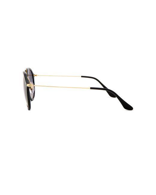 Солнцезащитные Очки Double Bridge Aviator В Цвете Черный Серый Градиентный - Black. Размер All. Ray-Ban, цвет: Gray