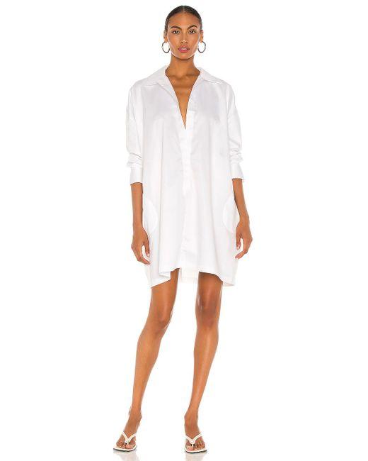 Norma Kamali Oversized ミニドレス White