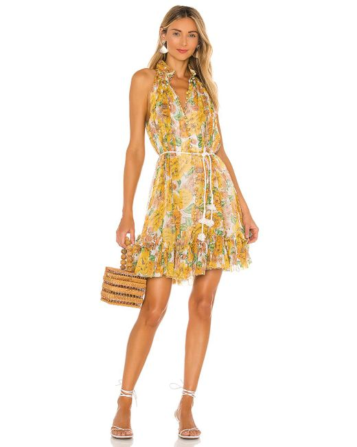 Zimmermann Poppy ドレス Yellow