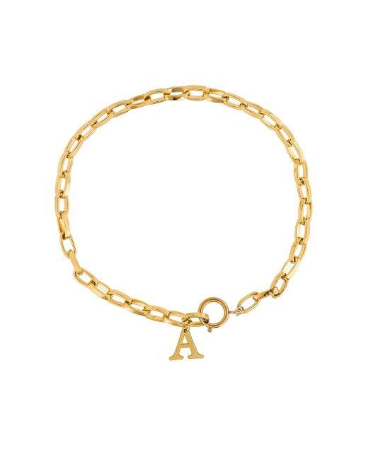 Ожерелье Initial В Цвете Золотой Joolz by Martha Calvo, цвет: Metallic