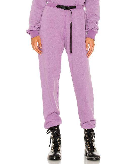 John Elliott Belted スウェットパンツ Purple