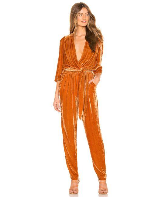 Young Fabulous & Broke - Bellows Jumpsuit In Orange - Lyst