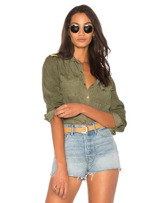 Splendid   Green Military Shirt   Lyst