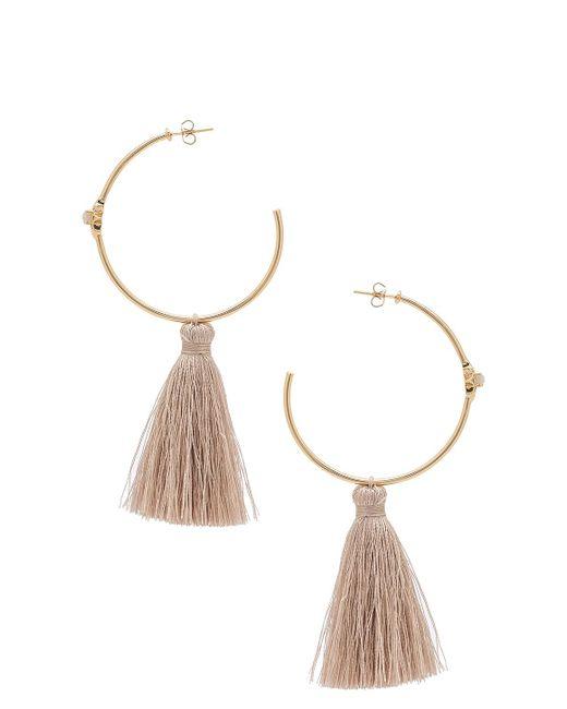 Melanie auld Starburst Hoop Earrings in Metallic | Lyst