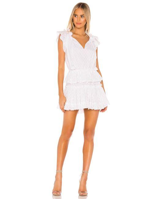 MISA Los Angles Lilian ドレス In White. Size L.