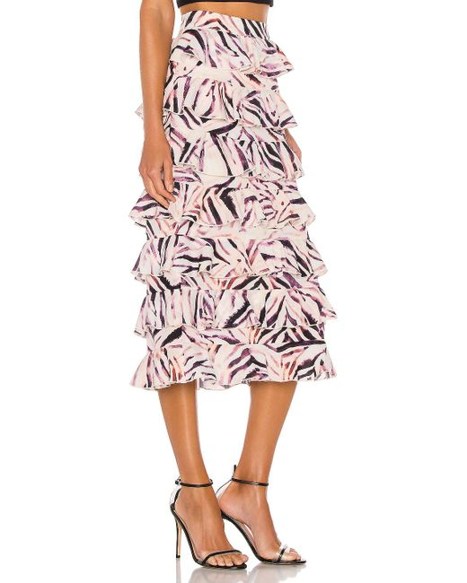 Kendall + Kylie Ruffle ミディ丈スカート Pink
