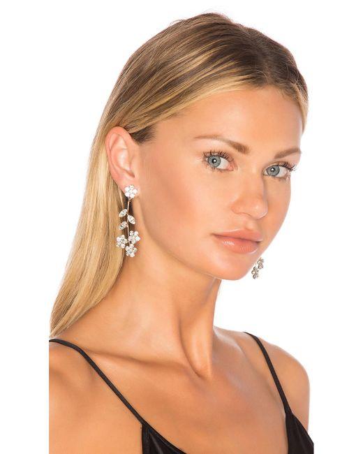 Jennifer Behr - Violet Dangle Earrings In Metallic Silver. - Lyst