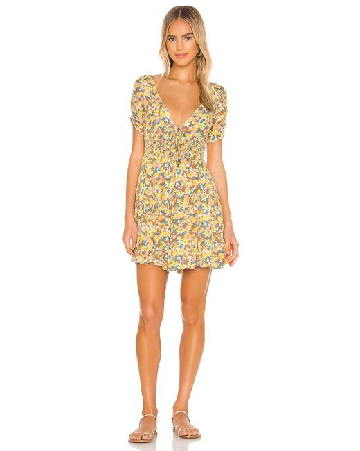 Free People Forget Me Not ミニドレス Yellow