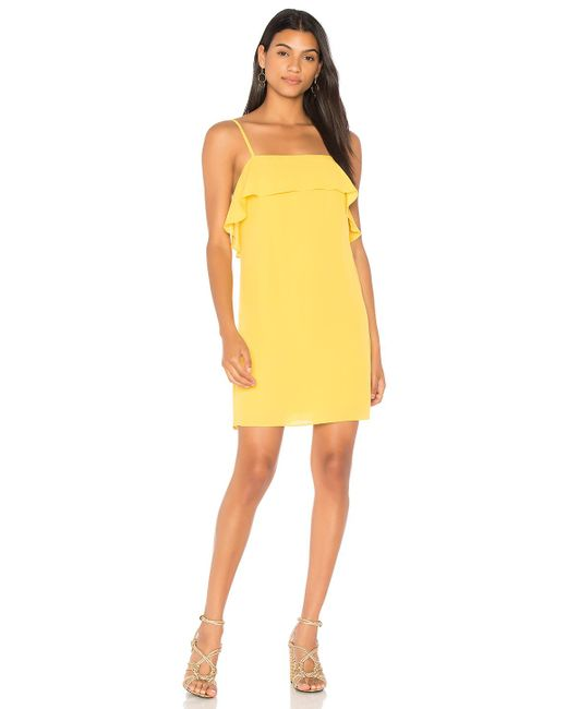 Alice + Olivia | Yellow Etta Dress | Lyst